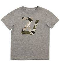 Zadig & Voltaire T-shirt - Young Free - Grey Melange w. Initials