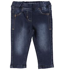 Minymo Trousers - Stretch Slim Fit - Dark Blue Denim