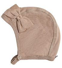 Racing Kids Baby Hat - Light Brown w. Bow