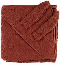 Pippi Hooded Towel - 83x83 - Marsala