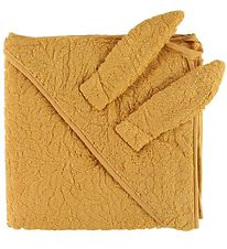 Pippi Hooded Towel - 83x83 - Mineral Yellow