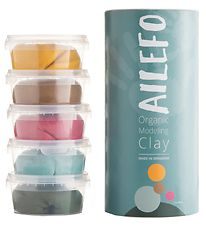 Ailefo Modeling Clay - Organic - 5x 160 g - Basic Colors