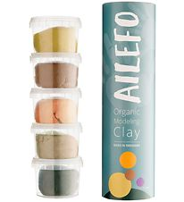 Ailefo Modeling Clay - Organic - 5x 100 g - Forest Colors