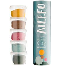 Ailefo Modeling Clay - Organic - 5x 100 g - Basic Colors