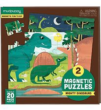 Mudpuppy Magnetic Puzzle - 20 pcs - Dinosaurs