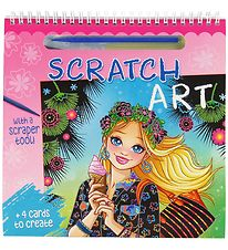 Karrusel Forlag Colouring Book w. Map - Scratch Art