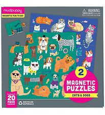Mudpuppy Magnetic Puzzle - 20 pcs - Cats & Dogs