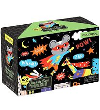 Mudpuppy Glow In The Dark Puzzle - 100 pcs - Superhero