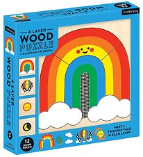 Mudpuppy 4 Layer Wood Puzzle - Rainbow Friends