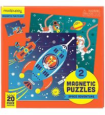 Mudpuppy Magnetic Puzzle - 20 pcs - Space Adventure