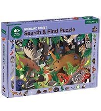 Mudpuppy Puzzle - Search And Find - 64 pcs - Woodland Forest