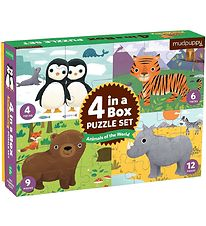 Mudpuppy 4-in-1 Puzzle - Animals Of The World
