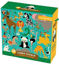 Mudpuppy Jumbo Puzzle - 25 pcs - Animals Of The World