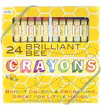 Ooly Crayons - Brilliant Bee - 24 pcs - Multicoloured
