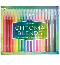 Ooly Watercolour Markers - Chroma Blends - 18 pcs - Multicoloure