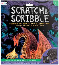 Ooly Scratch and Scribble Set - Fantastic Dragons