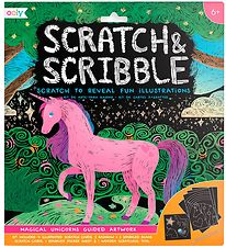 Ooly Scratch and Scribble Set - Magical Unicorns