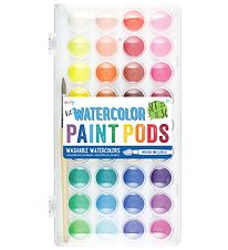 Ooly Watercolours w. Brush - Paint Pods - 36 pcs - Multicoloured