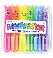 Ooly Mini Highlighters w. Scent - Monster - 6 pcs
