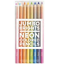 Ooly Colored Pencils - Jumbo Brights - 8 pcs - Neon