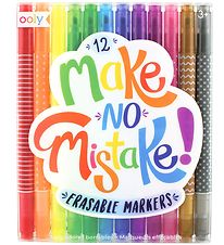 Ooly Erasable Markers - Make No Mistakes - 12 pcs - M