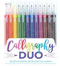 Ooly Markers - Calligraphy Duo - 12 pcs - Multicoloured