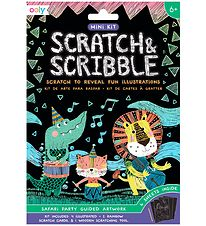 Ooly Scratch and Scribble Mini Set - Safari Party