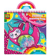 SES Creative - Furry Drawing Book w. Stickers
