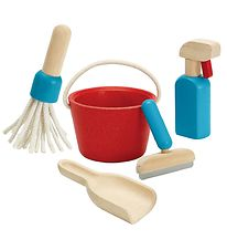 PlanToys Cleaning Set - Red/Blue