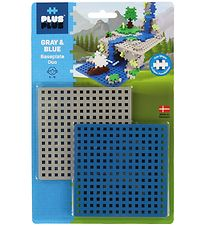 Plus-Plus Baseplate Duo - Blue/Grey