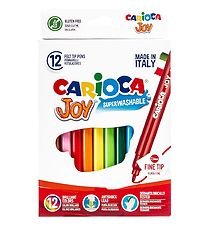 Carioca Fine Tip Markers - 12 pcs - Multicoloured