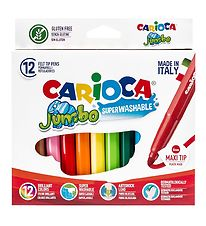 Carioca Maxi Tip Markers  - 12 pcs - Multicoloured