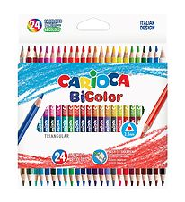 Carioca BiColor Pencils - 24 pcs - Multicoloured