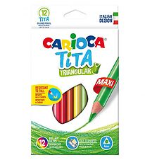 Carioca Maxi Coloured Pencils - 12 pcs - Multicoloured
