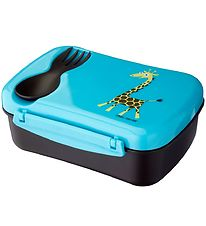 Carl Oscar Lunchbox w. Cooling Element - Turquoise Giraffe