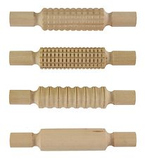 the Wild Hearts Play Dough Tools - 4 Rolling Pins w. Patterns
