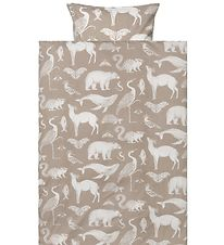 ferm Living Duvet Cover - Adult - Sand Coloured w. Animals