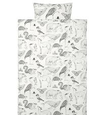 ferm Living Duvet Cover - Baby - Off-White w. Animals