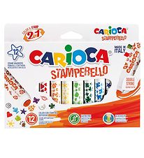 Carioca Stamp Markers  - 12 pcs - Multicoloured