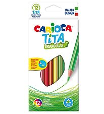 Carioca Coloured Pencils - Triangular - 12 pcs - Multicoloured