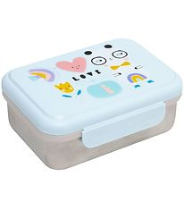 Petit Monkey Lunchbox - Stainless Steel - Panda Love - Blue