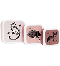 Petit Monkey Lunchbox Set - 3 pcs - Black Animal