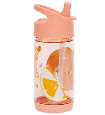 Petit Monkey Water Bottle w. Spout - 320 ml - Insects - Peach