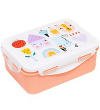 Petit Monkey Lunchbox - Skate & House - White/Peach