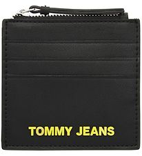 Tommy Hilfiger Credit Card Holder - Black w. Yellow