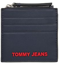 Tommy Hilfiger Credit Card Holder - Navy w. Red