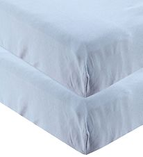 Leander Bed Sheet - 60x140 - 2-pack - Dusty Blue