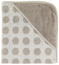 Leander Hooded Towel - Matty - 80x80 - Cappucino w. Dots
