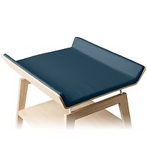 Leander Changing Pad Cover - Linea - Dark Blue