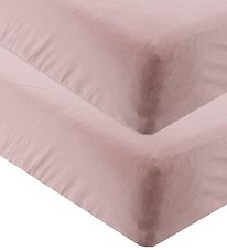 Leander Bed Sheet - 60x140 - 2-pack - Dusty Rose